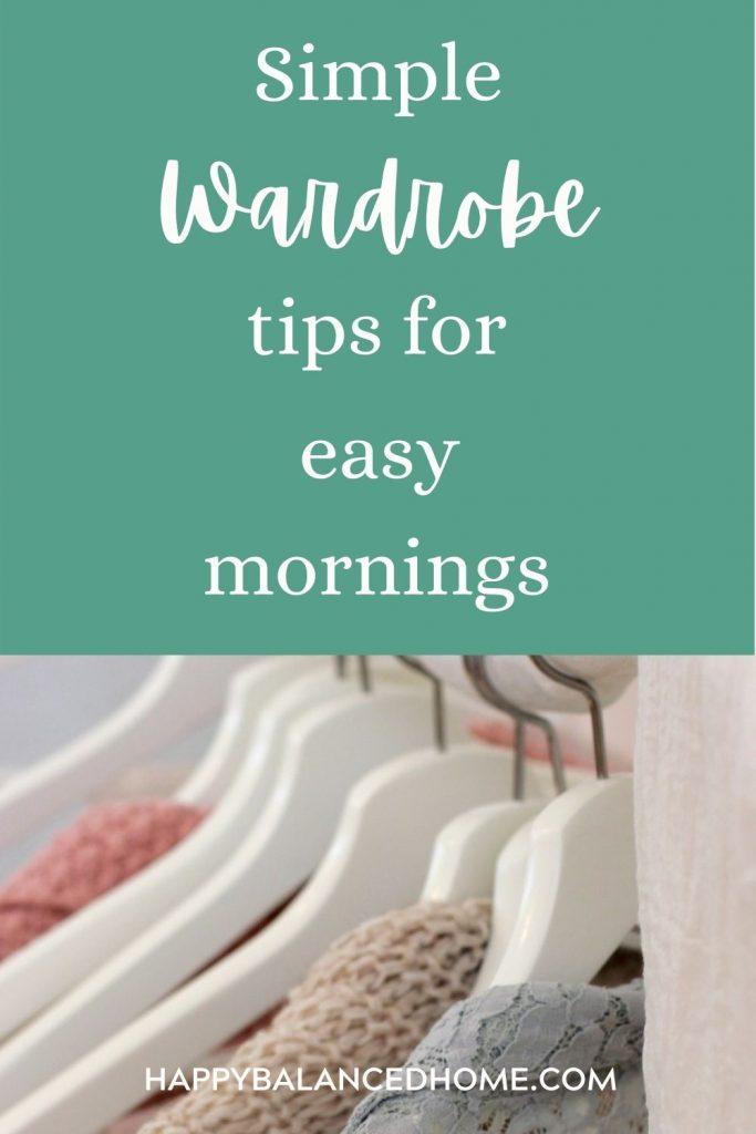 Simple wardrobe tips
